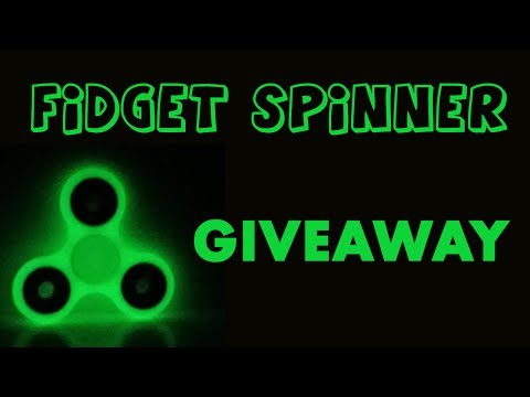Glow in the Dark Fidget Spinner Giveaway -...