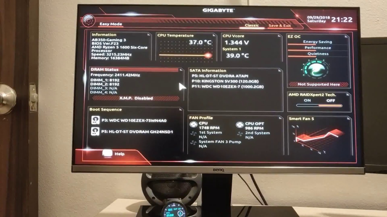 Enable Virtualization in AMD Chipset AB350 Gaming 3 with Ryzen 5 1600
