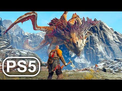 GOD OF WAR PS5 Dragon Boss Fight Gameplay 4K ULTRA HD