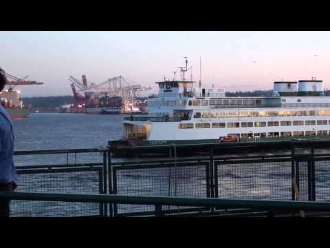 washington ferry tacoma arriving at seattle with bremerton ferry youtube youtube