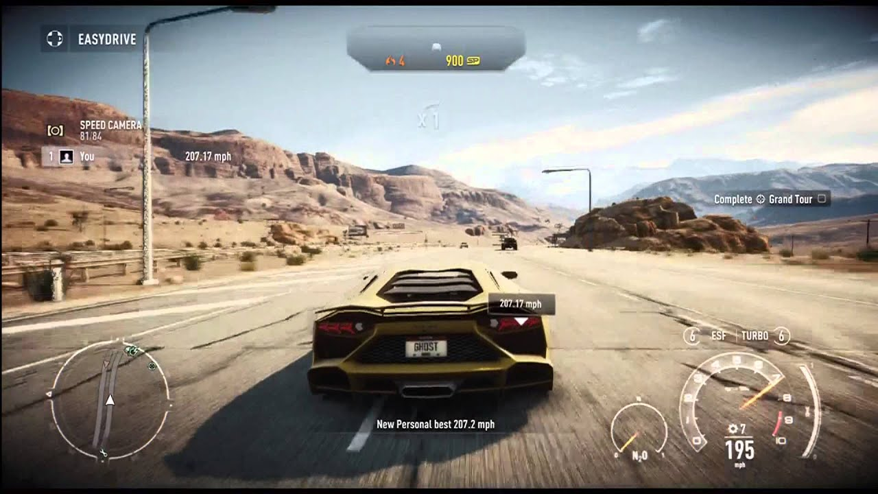 Need For Speed Rivals Lamborghini Aventador Top Speed Test