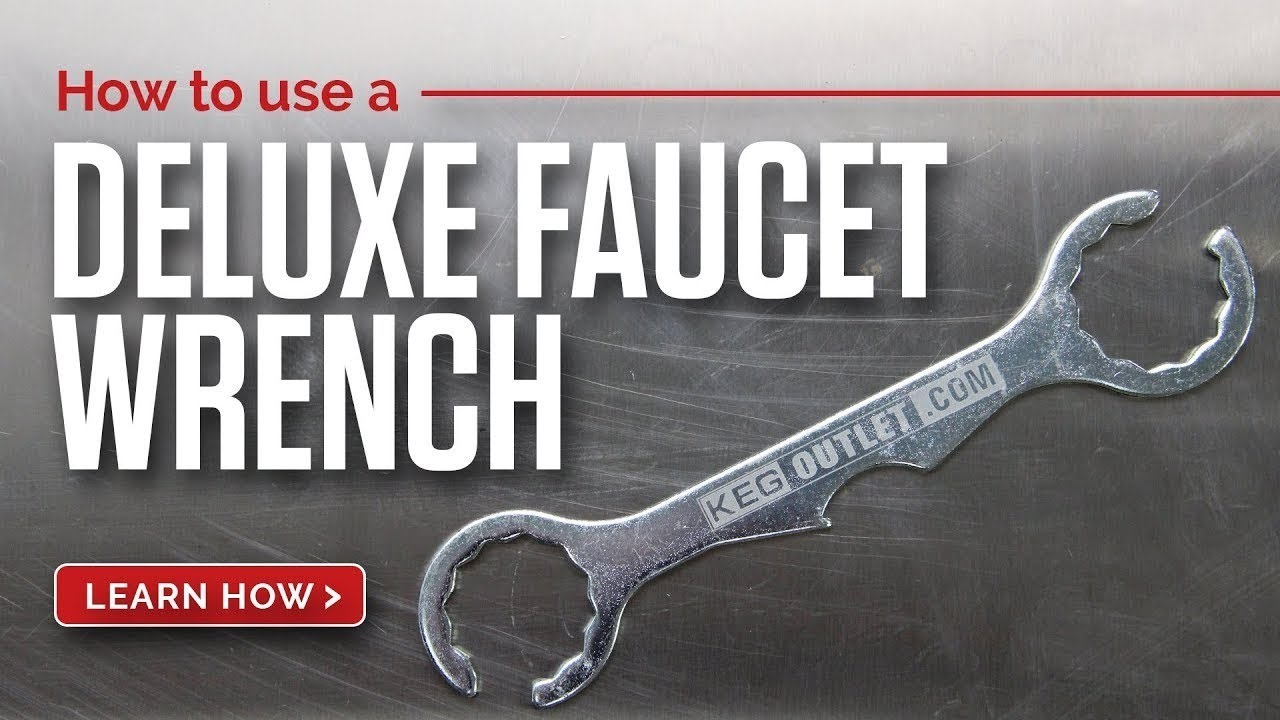 How to use a Deluxe Draft Beer Faucet Wrench - YouTube