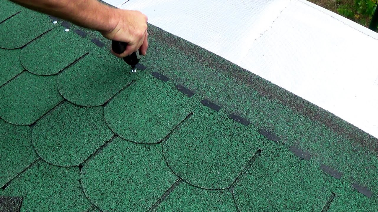 Turbo DACH DECKEN MIT BITUMENSCHINDELN; EASILY INSTALL ROOF SHINGLES FB56