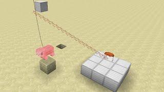 Pig-Powered Crane in Minecraft