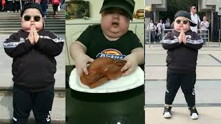 Fat Chinese Funny Kid Eating  2019