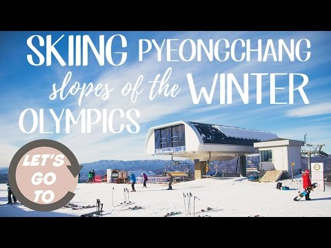Let's go to... Pyeongchang, South Korea Winter Resort! (DRONE)