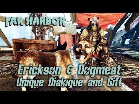 Fallout 4 Far Harbor - Erickson & Dogmeat Unique Dialogue and Gift