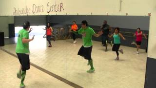Juliana - DLG - Salsa Dance Fitness Class w/ Bradley - Crazy Sock TV