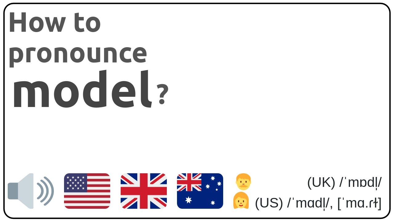 How to pronounce model in english?