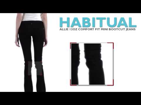 Habitual Alie Colored Mini Bootcut Jeans (For Women)