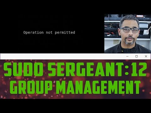 sudo Sergeant 12 - Group Management