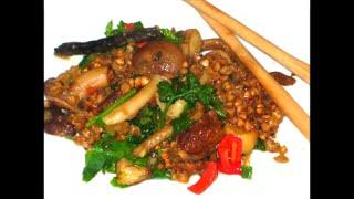 Гречка с грибами на азиатский манер