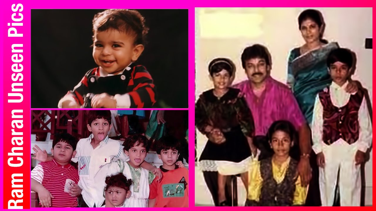 Ram charan childhood photos with pawan kalyan