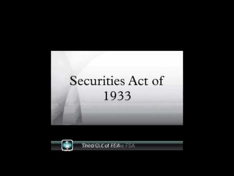 The Federal Securities Act of 1933- American History