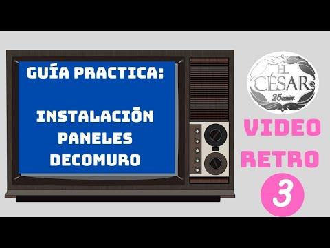 GUIA DE INSTALACION CON PANELES DECORATIVOS DE LA MARCA DECOMURO de YouTube · Duración:  2 minutos 44 segundos  · Más de 197.000 vistas · cargado el 13.02.2009 · cargado por EL CESAR ACABADOS REVESTIMIENTOS Y PANELES DECORATIVOS