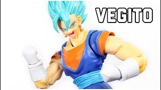 SH Figuarts Dragon Ball Super SDCC Super Saiyan God Super Saiyan Vegito Action Figure Review BANDAI