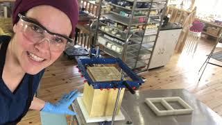 Різка 345 піщаних дюн мила, використовуючи SoapEquipment.com'и ручний різак огляд Частина 2