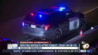Driver fleeing from sheriff's deputy crashes on I-15