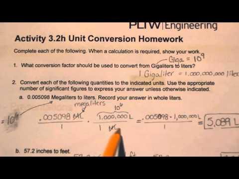Homework help on math conversions