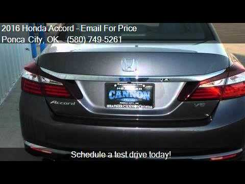 2016 honda accord ex l v6 4dr sedan for sale in ponca city youtube. Black Bedroom Furniture Sets. Home Design Ideas