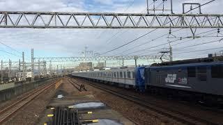 メトロ17000系甲種輸送 東海道本線尾張一宮駅通過
