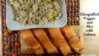 Chargrilled Veggies And Rice With Salmon Recipe