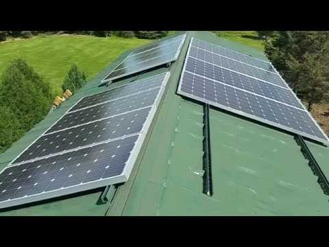 FINAL DAYS OF THE 2.560Kw STEEL ROOF TOP SOLAR UPGRADE INSTALLATION PROJECT Pt.2 By: jwsolarusa
