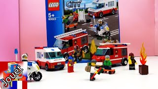 Pompiers, ambulance, police Lego City français (démo) - boîte Lego City Starter 60023