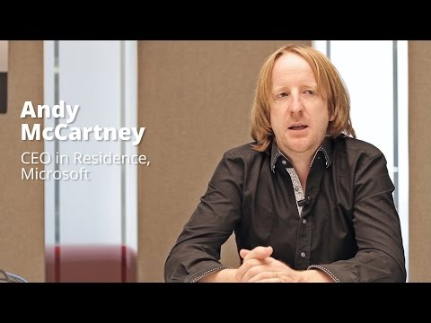 Andy McCartney, CEO in Residence, Microsoft Ventures
