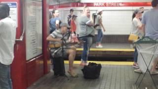 T train subway performer Sweet Caroline by Neil Diamond Boston Red Sox