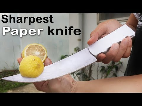 You won't believe how SHARP this PAPER knife is - DIY