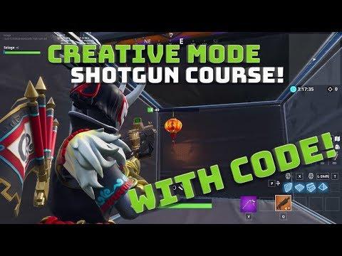 Creative Mode Shotgun Aim Smg Tracking Courses With Code Fortnite Battle Royale