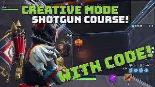 Creative mode Shotgun Aim & SMG Tracking Courses! WITH CODE! - Fortnite Battle Royale!