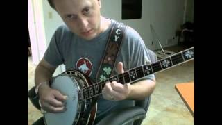 Backup banjo patterns for slow, medium and fast