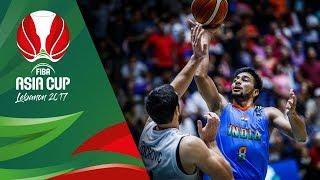 Syria v India - Full Game - FIBA Asia Cup 2017