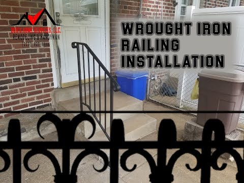 How To Install A Wrought Iron Railing