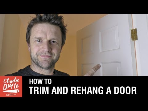 How to Trim and Rehang a Door