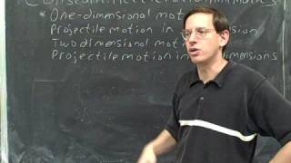 Physics: One-dimensional kinematics (1)