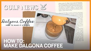 How to make Dalgona Coffee at home