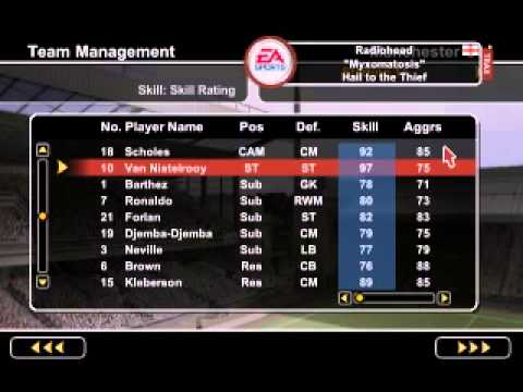 Fifa 2005 best players how to request substitute in fifa 11