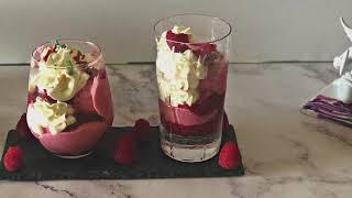 Raspberry Semifreddo -- Knickerbocker Glory -- From SWEET Book