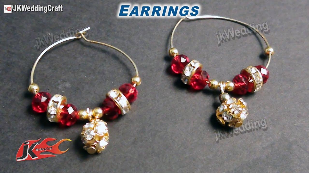 Diy How To Make Hoop Earrings Jewelry Making Jk Wedding Craft 008