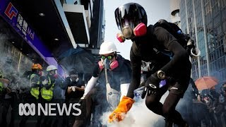 Hong Kong protesters target Chinese businesses in latest demonstrations | ABC News