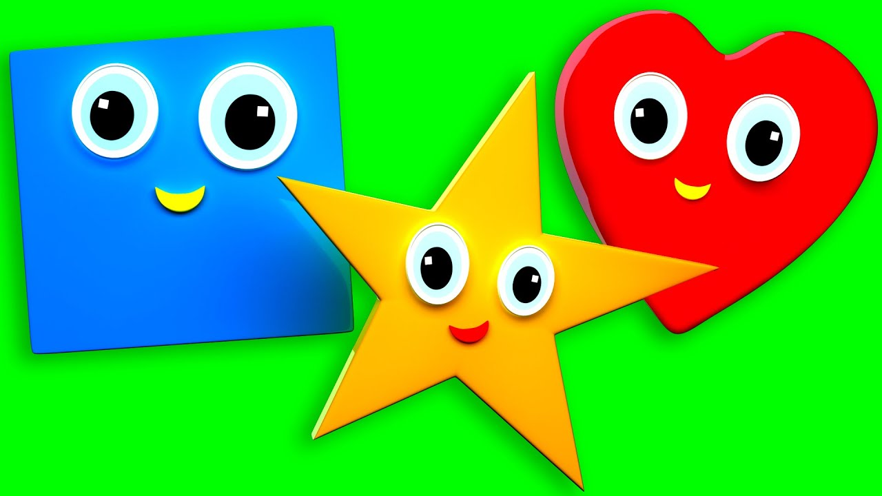 Shapes Song | Shapes | Nursery Rhymes For Kids And Children\'s - YouTube