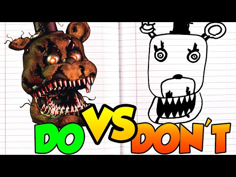 DOs & DON'Ts - Drawing Five Nights At Freddy's 4 Nightmare Freddy In 1 Minute CHALLENGE! thumbnail