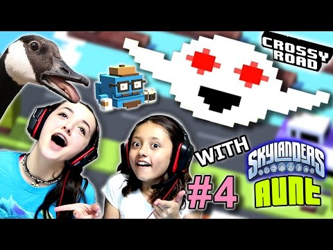 Lex & Skylander Aunt Play CROSSY ROAD Part 4!  |  THE GHOST!   (FGTEEV Kids Gameplay)