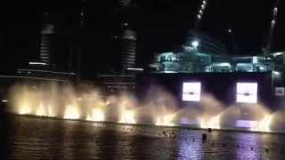 Dubai Fountain Show - 14.06.15 - Aa Bali Habibi - Elissa