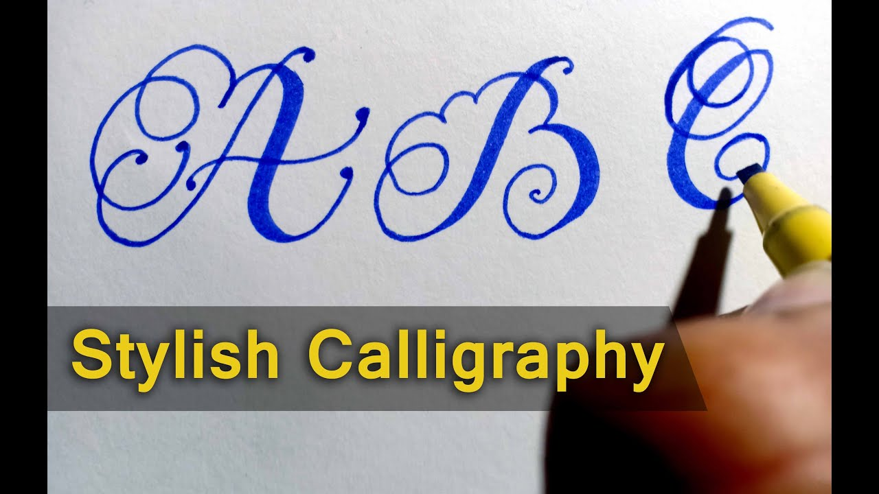 Calligraphy Alphabets Fancy Letters How To Write In Cursive Use Of Marker