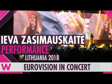 "Ieva Zasimauskaitè ""When We're Old"" (Lithuania 2018) LIVE @ Eurovision in Concert 2018"