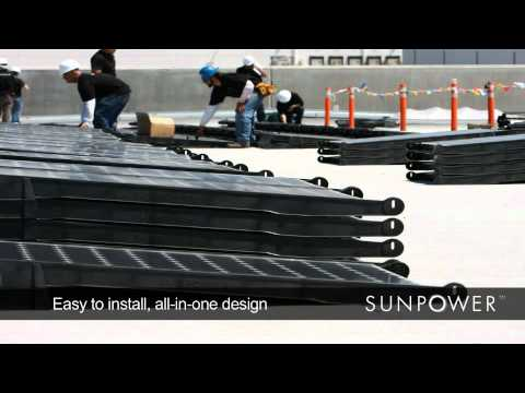 SunPower T5 Solar Roof Tile -- Power Plants